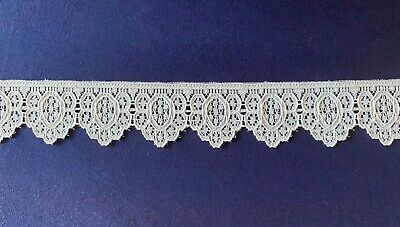 White Lace Trim Approx 35Mm Width X 1 Mtr (1) Sewing Wedding Crafting
