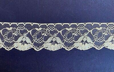 White Delicate Vintage Style Lace Trim 50Mm Width X 1 Mtr (12) Wedding Sewing