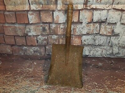 Vintage Wooden Handle Metal Hand Coal Shovel