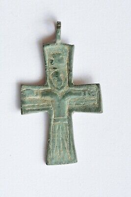 Byzantine bronze cross Jesus Christ crucified 7th century AD.