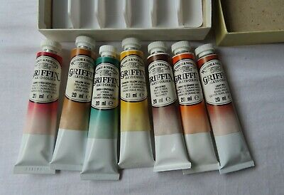 Winsor & Newton Artists' Materials 7 x Tube Griffin Alkyd colour   - 20ML  tube