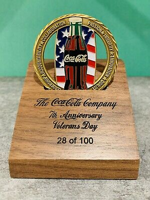 Military Soldiers 2014 Coca-Cola Veterans Day RARE Challenge Coin Dog Tag