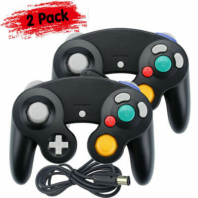 2 Pack Wired NGC Controller Gamepad for Nintendo GameCube GC & Wii U Console BK