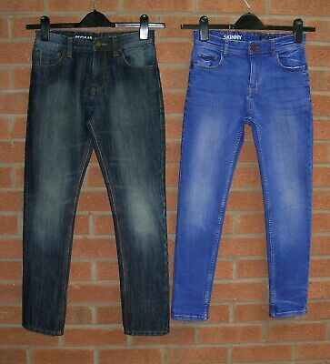 NEXT Boys Blue Denim Skinny Jeans Two Pairs Age 11 146cm