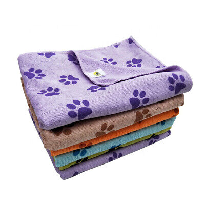 Microfibre Dog/Cat Towel Super Soft And Very Absorbent Paw Print Design