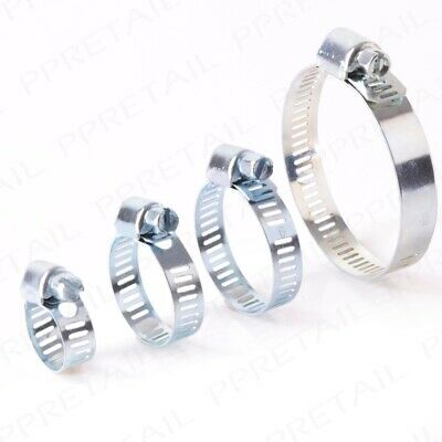 18mm-25mm ADJUSTABLE HOSE CLAMPS Jubilee Type Pipe Tube Clips CHOOSE QUANTITY