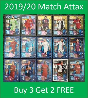 50/% OFF SALE 2019//20 Match Attax UEFA Shiny Special Cards and Team Sets