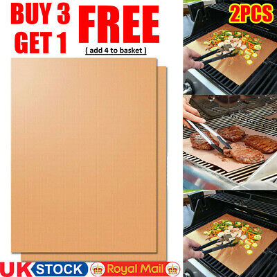 BBQ Grill Mat/Sheet - Resistant & Non-Stick - Pack of 2 - ❤BUY 3 GET 1 FREE❤