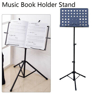 Adjustable Height Tripod Music Book Stand Sheet Holder Base Foldable 2 Types