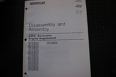 CATERPILLAR 345C EXCAVATOR Engine Disassembly Assembly Service Manual SUPPLEMENT