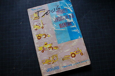 VICKERS Mobile Hydraulic System Operation Testing Adjusting Tech Service Manual