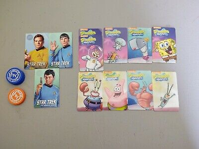 Dave And Busters Coin Pusher Random Card Lot, Star Trek, SpongeBob