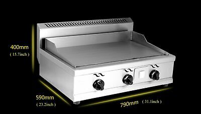 Used(deformation)Kitchen Flat Top Plate Griddle Grill 2000PA Natural Gas Cooker