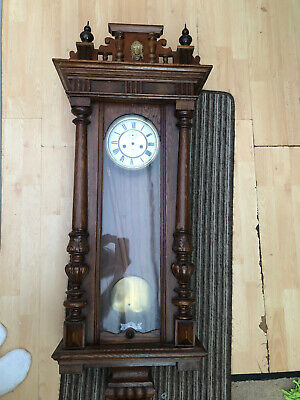 Antique Vienna Wall Clock with Gustav Becker Movement