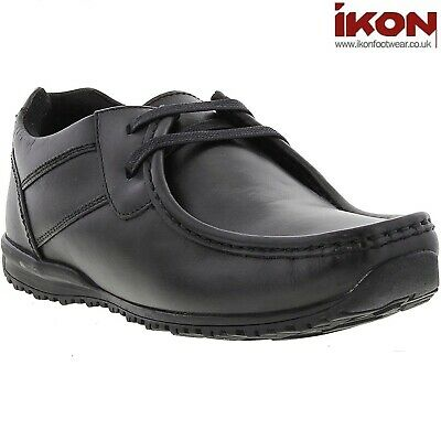Ikon TIDE Mens Smooth Leather Casual High Grip Lace Up Classic Moccasin Shoes