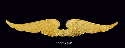 Art Noveau    One Piece Plume or Feather Raw Brass Stamping //Lg