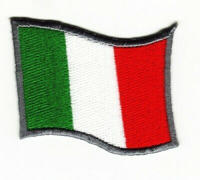 Italy Flag Motorsports Italian MotorGp Iron Sew on Embroidered Patch#1493