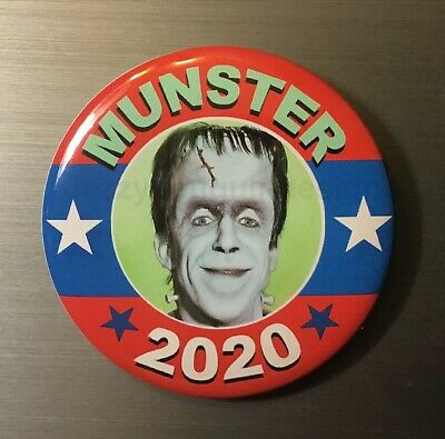 """Herman Munsters President 2020 2.25"""" Pin Button Or Magnet Horror Monsters Comedy"""
