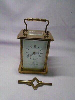Modern Matthew Norman 8 Day Timepiece Carriage Clock In Good Working Order