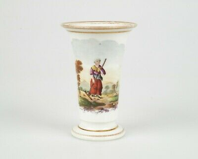 Antique 19th century Victorian hand painted porcelain vase