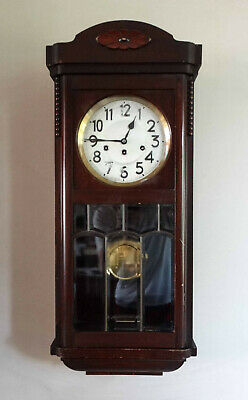Antique Westminster 8 Day Chiming Wall Clock by Junghans Wempe Germany c1920