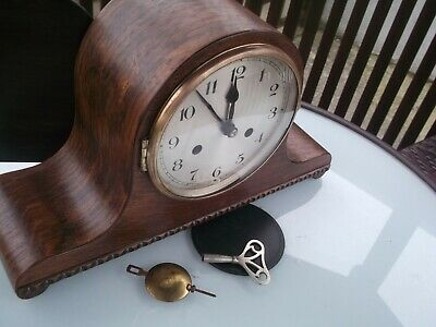 Nice clean Vintage Napoleon Hat style Striking on Gong Mantel clock UWS movement