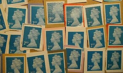 1000 Unfranked  Blue 2Nd Class  Security Stamps On Paper. Face Value. £650