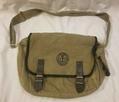 Ahmik Casual Canvas Messenger Book Bag BMT-3287 Green