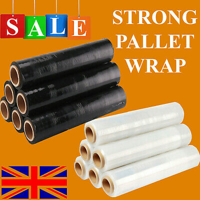 NEW STRONG PALLET STRETCH SHRINK WRAP CAST PARCEL PACKING CLING FILM LONG WRAP