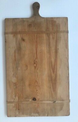 Antique French Pine Charcuterie, Bread, Cheese Serving Tray Board