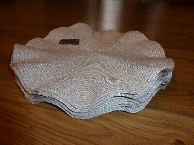 Silver placemats set of 6