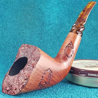 EXCELLENT! TIM WEST HUGE 360 STRAIGHT GRAIN DUBLIN FREEHAND AMERICAN Estate Pipe