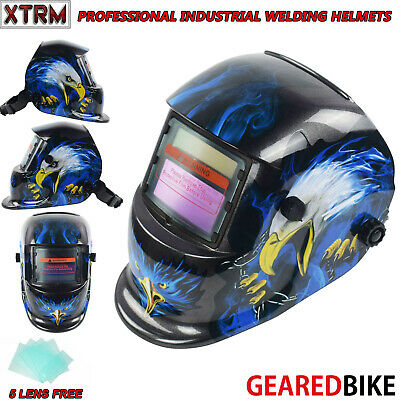 Auto Darkening Welding Grinding Helmet With Solar Panel IV UV Protection EAGLE