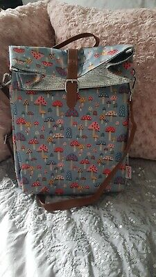 Cath Kidston Packed Lunch Bag. Pack Up. Picnic. Mushrooms. Excellent condition
