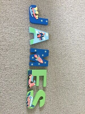 James painted children's wooden name letters
