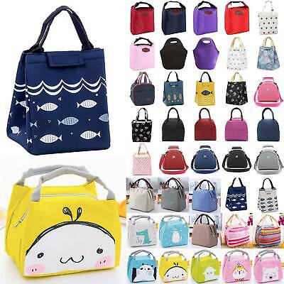 Children's Kids Adult Lunch Bags Insulated Cool Bag Picnic Work School Lunchbox
