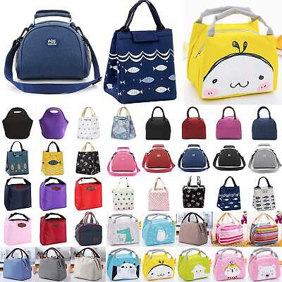 Portable Office School Lunch Bags Lunchbox Kids Adults Insulated Cool Tote Bag