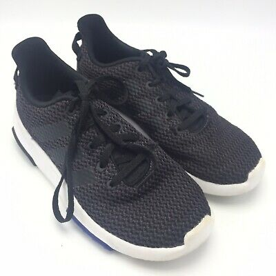 Adidas Sz 4 Tennis Shoes Youth Athletic Workout Running Black Cloudfoam