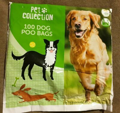 100 Doggy Bags Extra Strong Lemon Scented Dog Puppy Poo Waste Easy Tie Handle UK