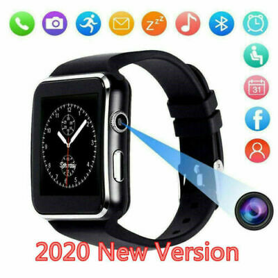 Waterproof Bluetooth Smart Watch SIM Phone Mate For iphone IOS Android Black