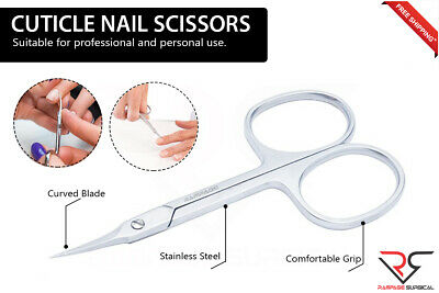 Sharp Curved Edge Cuticle and Nail File Scissors For Manicure and Pedicure Tool