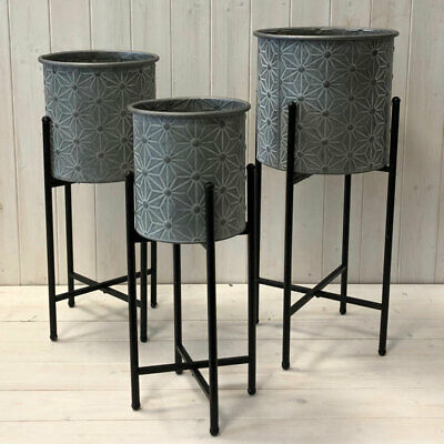 African Style Brown Planter Pot Wooden Tripod Legs Stand Garden or Home 40.5cm