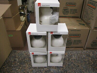 Lot of (5) YI Pan tilt Dome Cameras 720P HD Wireless Wi-Fi Night vision - Qty