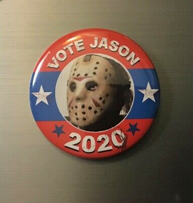 """Friday The 13th Jason Voorhees Inspired Horror Movie Button Pin 1.25/"""""""
