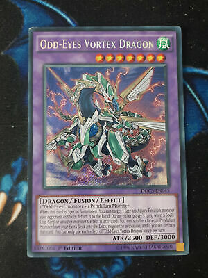 Secret Rare 1st Edition NM Dimension Odd-Eyes Vortex Dragon DOCS-EN045