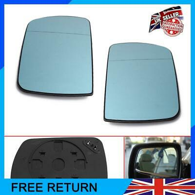Right Side Blue Heated Door Wing Mirror Glass For BMW X5 E53 1999-06 Range Rover