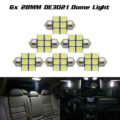 NJYTouch 10pcs 31mm 5050 211 2SMD Red Festoon Dome Map Interior LED Light Bulbs