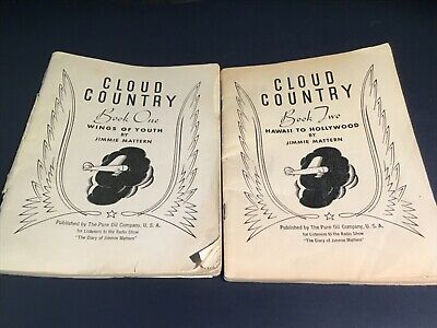 Cloud Country~BOOKS 1 & 2 Jimmie Mattern~PURE OIL CO~Radio Show~1936~AIRPLANE