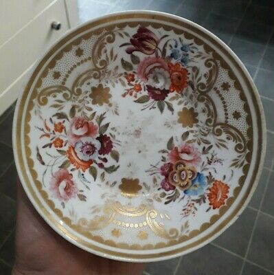 Lovely Georgian Hand Painted Gilded Saucer c1820 Wedgwood?