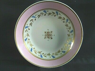 Georgian Derby Hand Painted & Gilded Saucer 1806 - 1825